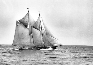 A schooner at sea