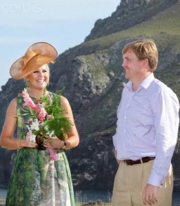 Niederländische Königsfamilie auf den Antillen