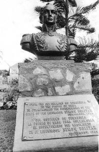 Monument to Simon Bolivar on Saba