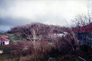 The Level, Saba after hurricane George in 1998. Here is where the church doors of the Dutch Reformed Church of St. Eustatius reportedly landed in the Great Hurricane of 1772.