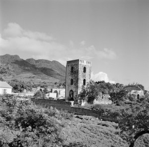The ruins of the Dutch Reformed Church on St Eustatius