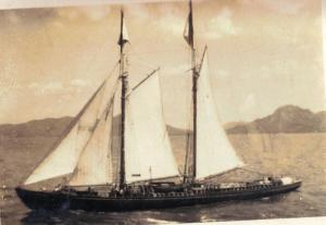"Schooner ""Mona Marie"" of Capt. William Benjamin Hassell, also of Saba/Barbados"
