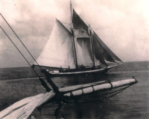 Schooner Edward VII belonging to Capt. Frank Hassell of Saba Barbados