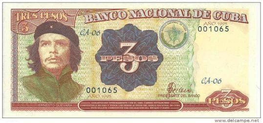 Tres pesos Cubanos