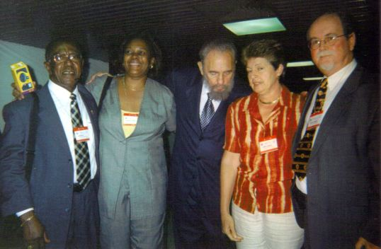 Roy Smith, Marcella Hazel, Fidel Castro, Lynne Johnson - Havana Nov 16th 2002