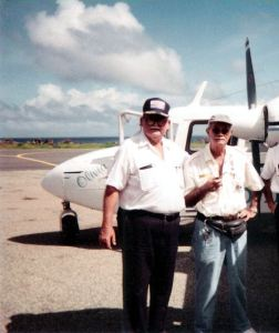 Freddie Johnson (Winair agent) and Jose Dormoy