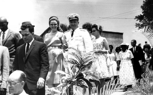 Among the guests from other islands - Mayor Dr. Hubert Petit of French St. Martin, Commissioner Milton Peters, Lt. Governor and Mrs. Beaujon, and also pilot Remy de Haenen then Mayor of St. Barths. Sept. 18th. 1963