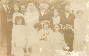 Capt. Charles Reuben Simmons on his wedding day in 1919 to Sylvia Otillia Johnson.