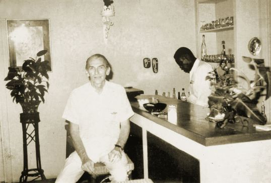 "Charles ""Scout"" Thirkield and Albert Warner in the bar at the Passangrahan"