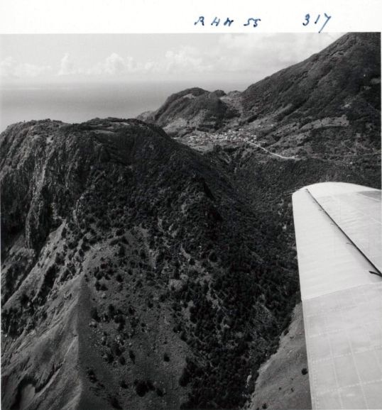Aerial view of Saba