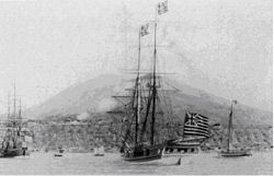 Activity in the Bay at St. Eustatius
