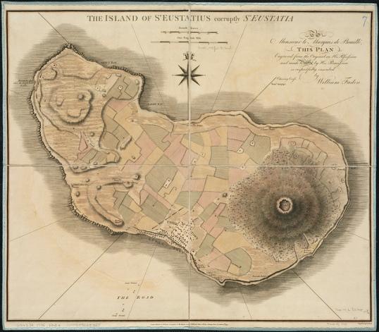 Old chart of St. Eustatius