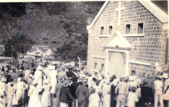 Dedication R.C. church in The Bottom 1934.