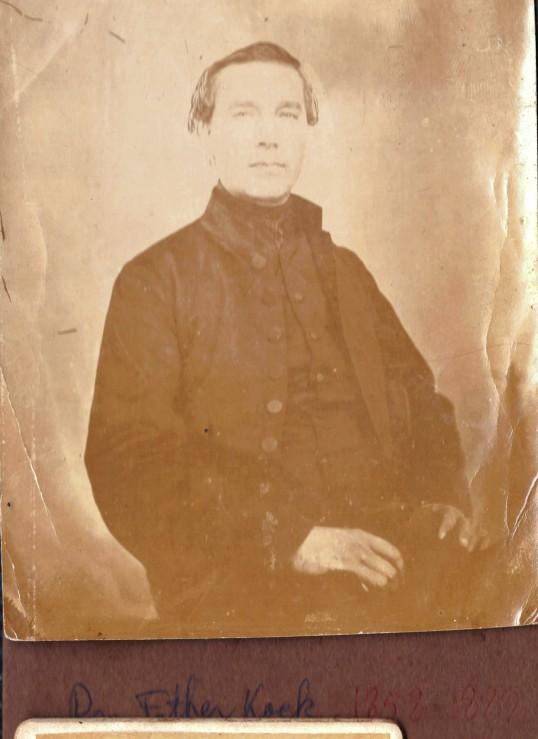 Father J.Kock served Saba 1858 - 1889