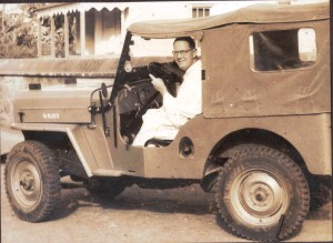 Image (2750) Father Boradori in his JEEP.