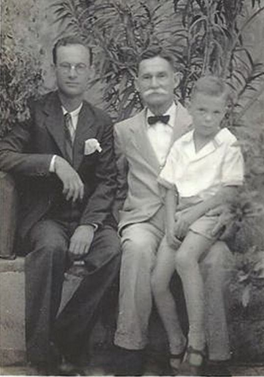 Thomas Clifford with his father Thomas Charles Vanterpool and his son Allan.