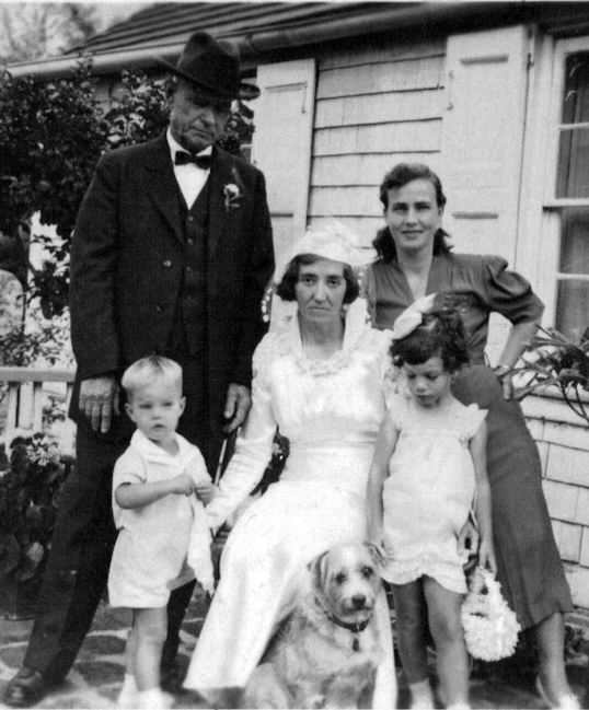 'Dory' and Miss Olive getting married 1939