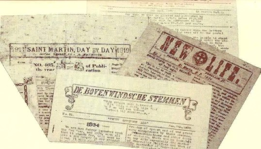 Old St.Martin newspapers