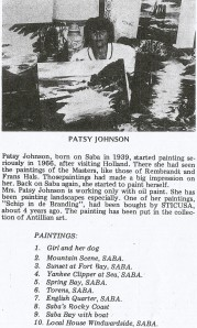 Artist Patsy M. Johnson