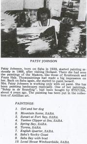 Artist Patsy M. Johnson