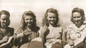 Gladys Johnson, Veda Zagers, Ethel Johnson and Estelle Simmons