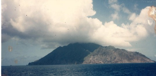 Arriving at Saba.