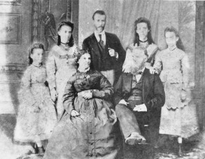 Governor Moses Leverock and family 1870?