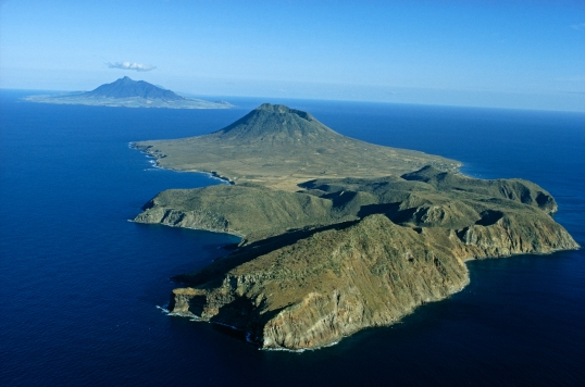 Saint Eustatius Island was once an active volcano.