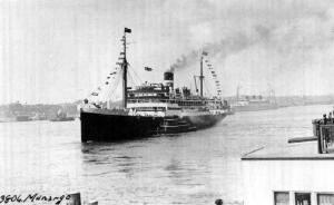 SS Munagro Commodore Tom Simmons 3rd office 1922.