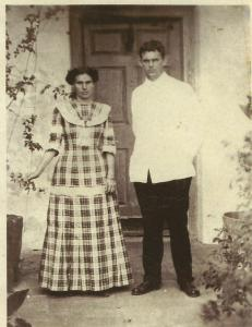 Dr. George Hopkins and his wife Lucy, Saba 1910.