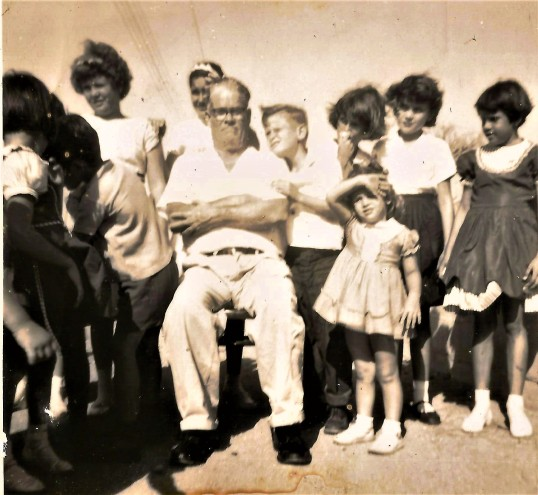 Children with Ralph Hassell