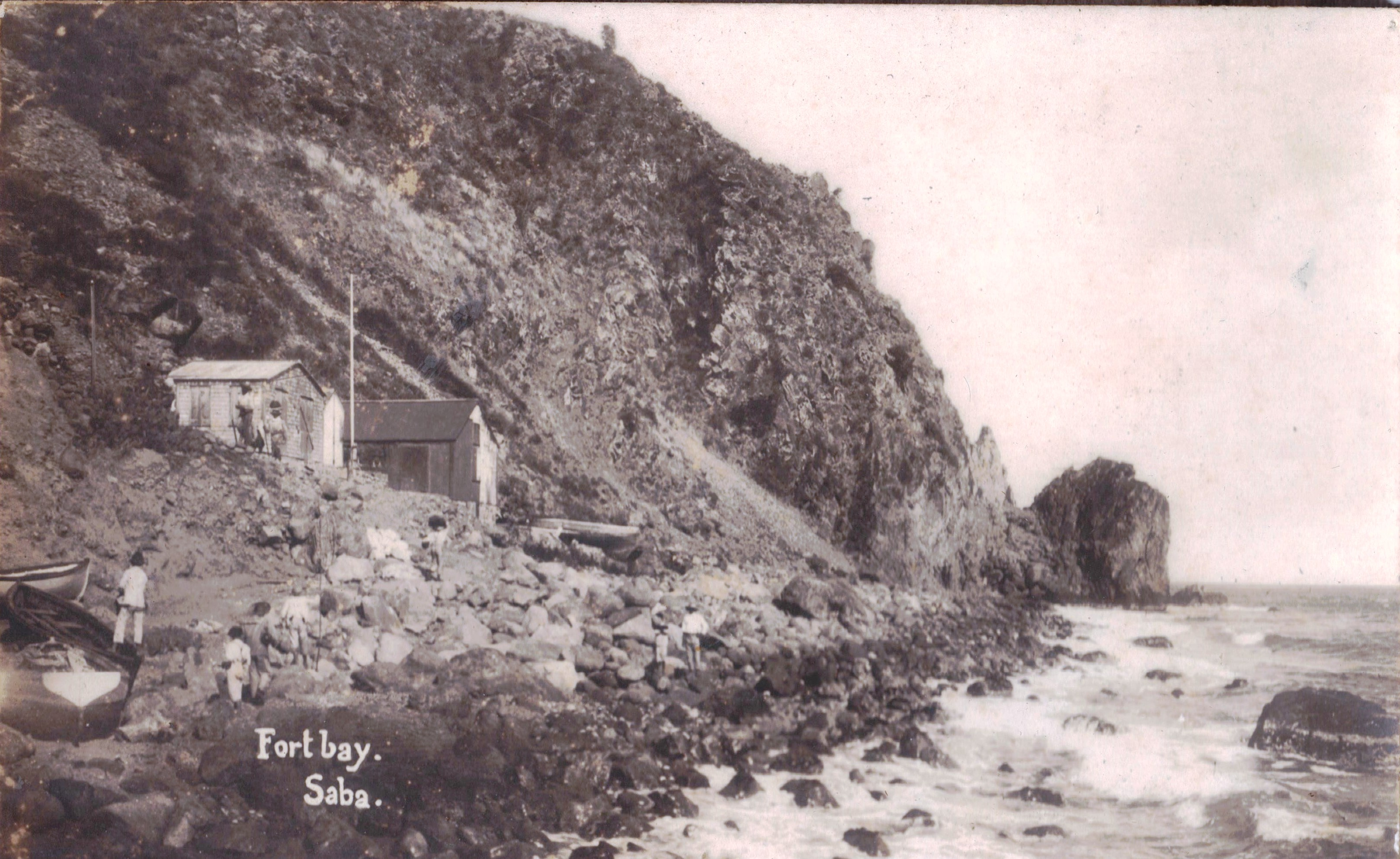Fort Bay, Saba 1915.