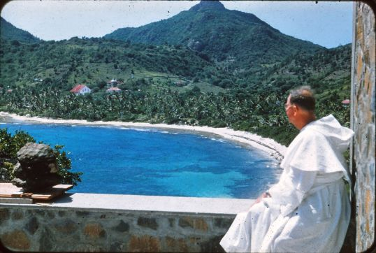 Father Boradori on St. Barth's.