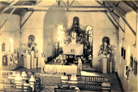 Inside newly built Sacred Heart Church 1935.
