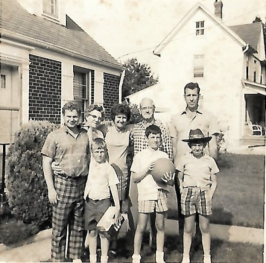 Diederick Ambrose Every with his niece Lucille and her husband Ronnie and children.